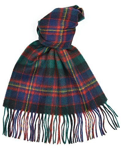 Lambswool Scottish Cameron Of Erracht Modern Tartan Clan Scarf (Cameron Check)