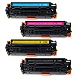 JARBO 1 Set Compatible for Canon 118 Toner Cartridges High Yield, Use with Canon ImageCLASS MF8580CDW MF8380CDW MF8350CDN MF726CDW LBP7660CDN LBP7200CDN Printer (1 Black, 1 Cyan, 1 Magenta, 1 Yellow)