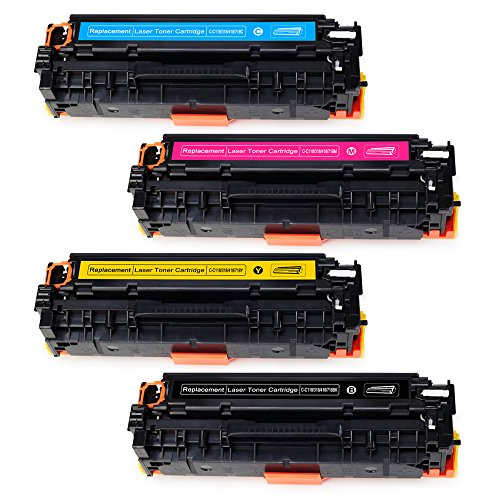 JARBO 1 Set Compatible for Canon 118 Toner Cartridges High Yield, Use with Canon ImageCLASS MF8580CDW MF8380CDW MF8350CDN MF726CDW LBP7660CDN LBP7200CDN Printer (1 Black, 1 Cyan, 1 Magenta, 1 Yellow) by JARBO