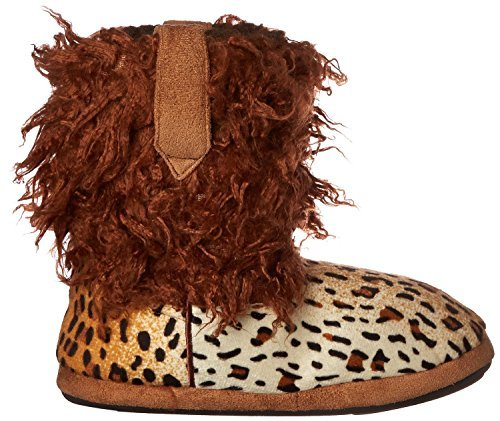 Cowboy Kickers Wooly Cheetah Slippers for Infants, Toddlers, and Girls 12-18 ()