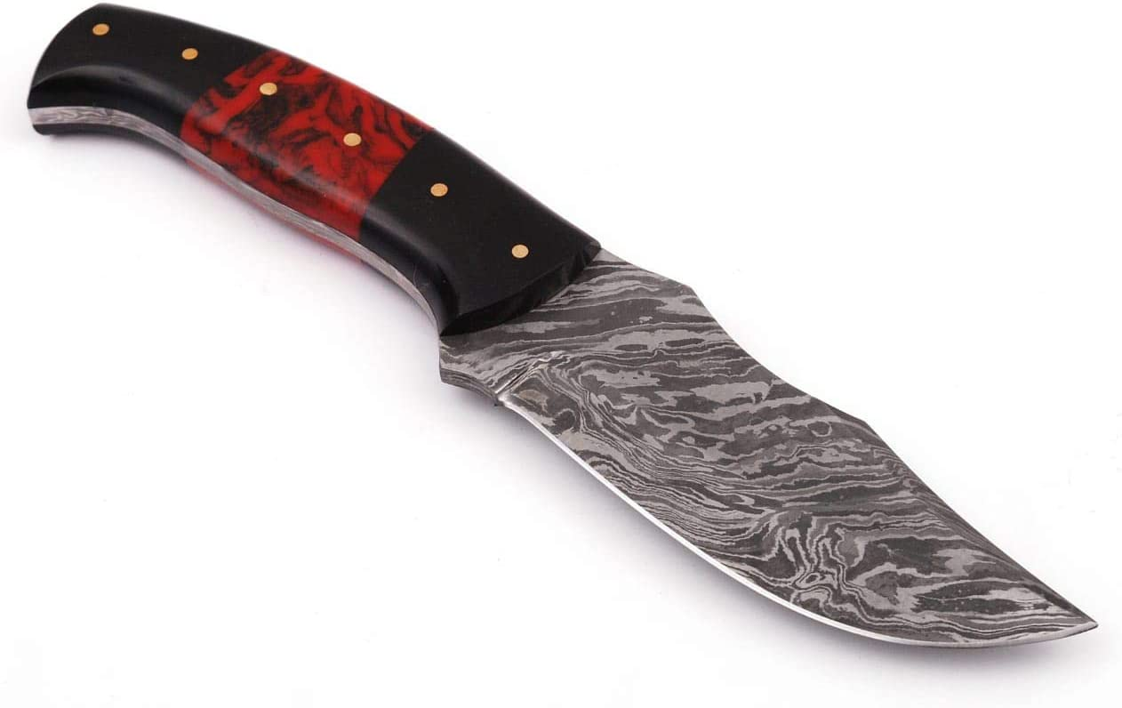 Grace Knives Handmade Damascus Steel Hunting Knife 8.5 Inches G-09L with Sheath