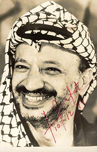 President Yasser Arafat (Palestinian National Authority) - Photograph Signed 10/12/1979