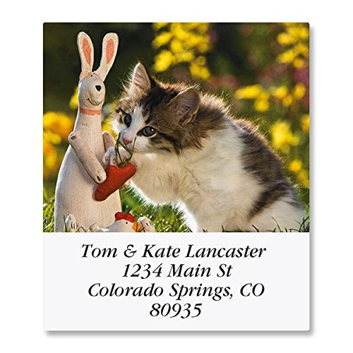 Love of Cats Self-Adhesive, Flat-Sheet Select Address Labels (12 - Print How To Return Label A