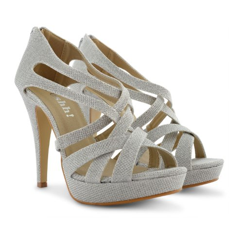 Footwear Sensation - Sandalias de vestir para mujer negro negro negro - plata