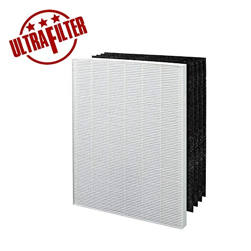 Ultra Filter - Air Purifier Filters True HEPA Plus 4 Carbon Replacement Filter A 115115 Size 21 for Winix PlasmaWave air Purifier 5300 6300 5300-2 6300-2 P300 C535