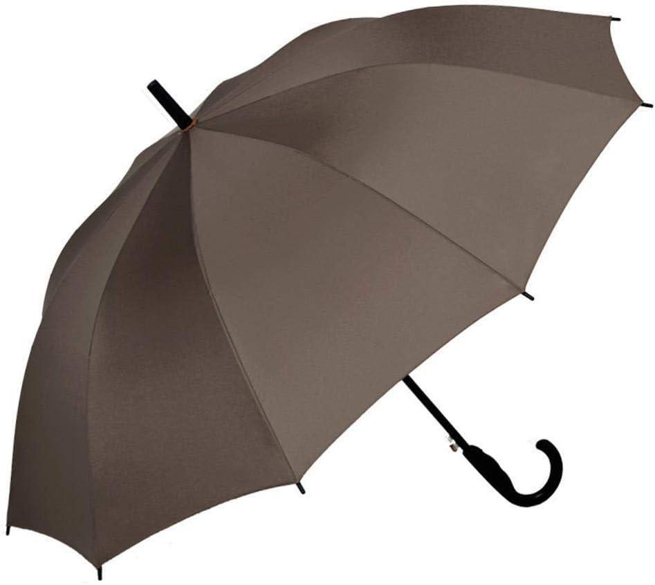 TtKj Folding Umbrella Business Pure Color Straight Handle Steel Wind Clear Umbrella 96120140cm