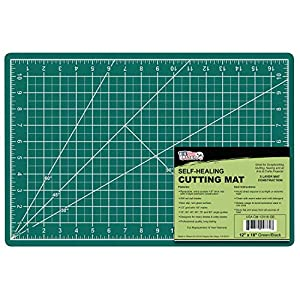 US Art Supply 12″ x 18″ GREEN/BLACK Professional Self Healing 5-Ply Double Sided Durable Non-Slip PVC Cutting Mat Great for Scrapbooking, Quilting, Sewing and all Arts & Crafts Projects