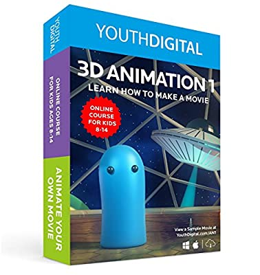 3D Animation 1 - Kids Ages 8-14 Learn To Animate Their Own Movie (PC & Mac)