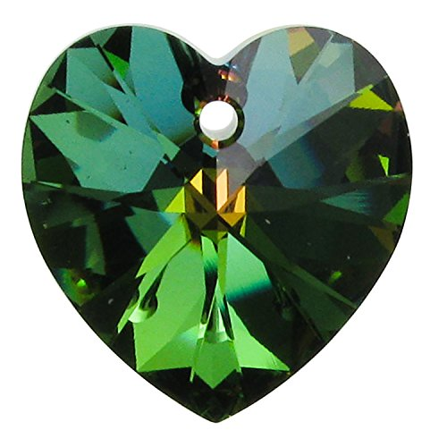 1 pc Swarovski Crystal 6228 Xilion Heart Charm Pendant Vitrail Medium 18mm / Findings / Crystallized Element - 18mm 1 Charm