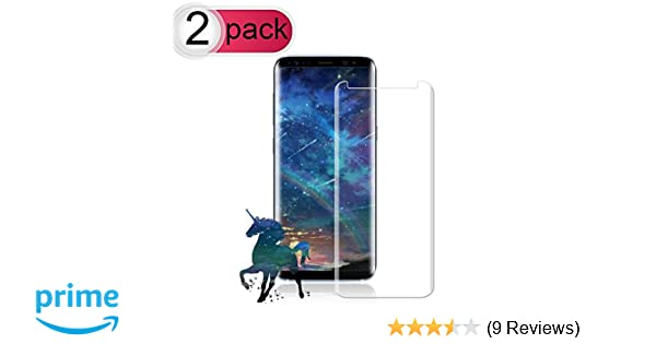 [2-Pack] Galaxy S8 Plus Screen Protector, Live2Pedal Tempered Glass Screen Protector [9H Hardness][Anti-Scratch][Anti-Bubble][3D Curved] [High Definition] [Ultra Clear] for Samsung Galaxy S8 Plus