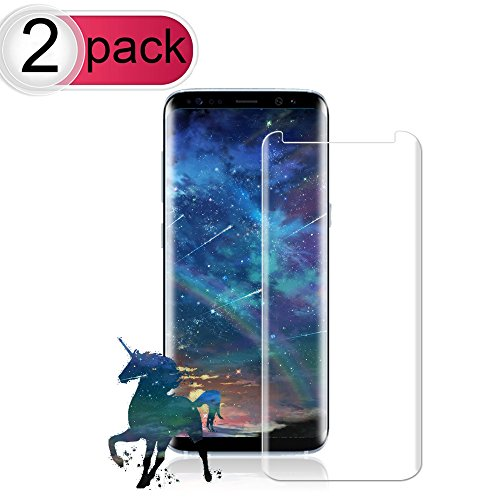 [2-Pack] Galaxy S8 Plus Screen Protector, Live2Pedal Tempered Glass Screen Protector [9H Hardness][Anti-Scratch][Anti-Bubble][3D Curved] [High Definition] [Ultra Clear] for Samsung Galaxy S8 Plus by Live2Pedal