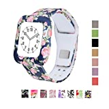 MLQSS Soft Silicone Shockproof Rugged Watch Band with...