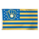 MLB Milwaukee Brewers 07945115 Deluxe Flag, 3' x 5'