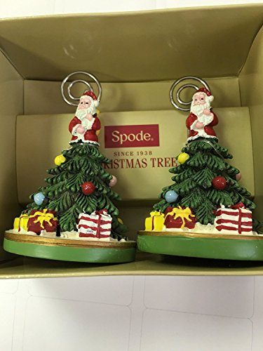 Spode Christmas Tree Set of 2 Place Card Holders (Place Tree Christmas Card Holder)