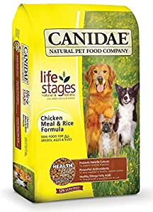 CANIDAE Life Stages Dry Dog Food for Puppies, Adults & Seniors, Chicken Meal & Rice vyiJax,2 Pack (5 Pound)