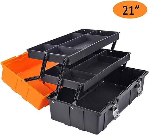 ZSHLZG Caja de Herramientas de plástico Tres Pisos Espesar ...
