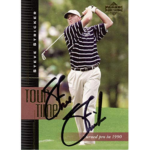 Steve Stricker Autographed 2001#180 Card - Upper Deck Certified - Autographed Golf Cards from Sports Memorabilia