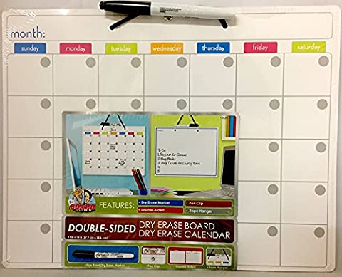 The Board Dudes 11x14 Double-Sided Board/Calendar & Marker (colored)