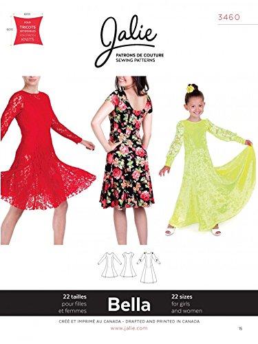 Jalie Ladies /& Girls Easy Sewing Pattern 3460 Bella Fit /& Flare Dress