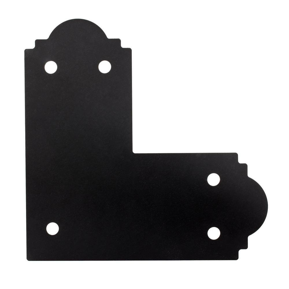 Simpson Strong Tie Simpson Outdoor Accents APL6-8 x 6-inch ZMAXGalvanized Steel Black Powder-Coat Flat L Strap (8-Case)