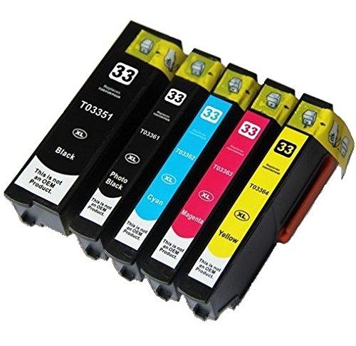 228 opinioni per Printing Pleasure 5 Compatibili Epson 33XL Cartucce d'inchiostro per Epson