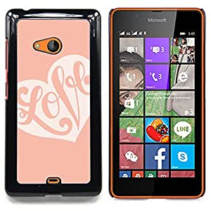 "Planetar ( Lunares de Orange Chevron"" ) Nokia Lumia 540 Fundas Cover Cubre Hard Case Cover"
