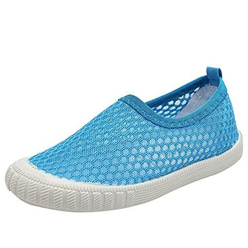 - CIOR Boys & Girls' Breathable Mesh Slip-on Sneakers Sandals Water Shoe for Running Pool Beach Toddler/kidsSK808,Blue,22