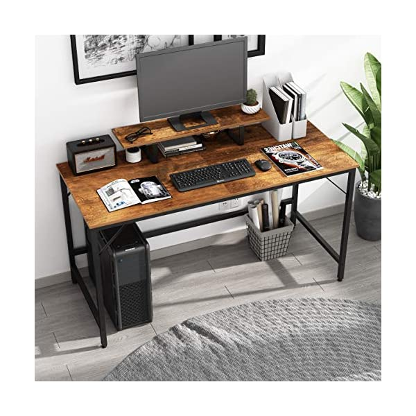 JOISCOPE Bureau d'ordinateur avec étagère Amovible,Bureau,Bureau d'étude,Bureau Industriel,Une Installation Facile,55…