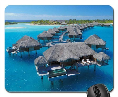 (Four Seasons Resort Bora Bora Water Villas Mouse Pad, Mousepad (Beaches Mouse Pad))