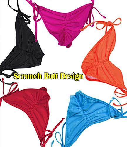 b2bbdccda57 KIWI RATA 2017 New Womens Swimwear Sexy Tie Side Sweet Heart Brazilian  Bikini Bottom Hipster Swimsuit
