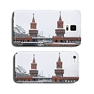 Winter view of Oberbaum Bridge across the Spree river in Berlin cell phone cover case Samsung S6