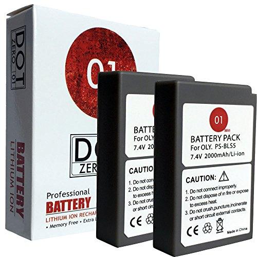DOT-01 2X Brand Olympus OM-D E-M10 Mark II Batteries Olympus OM-D E-M10 Mark II Camera Olympus EM10 II Battery Bundle Olympus BLS50 BLS-50