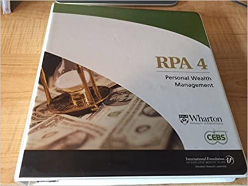 RPA 4 Personal Wealth Management Learning Guide & CDs: International