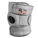 Daily HQ Accs Hinged Knee Brace - Adjustable & Elastic Stabilizer + 3 Velcros Plus Patella Support - Both Sides Compatible for Women & Men - Relief from Pain During Running & Other Sports