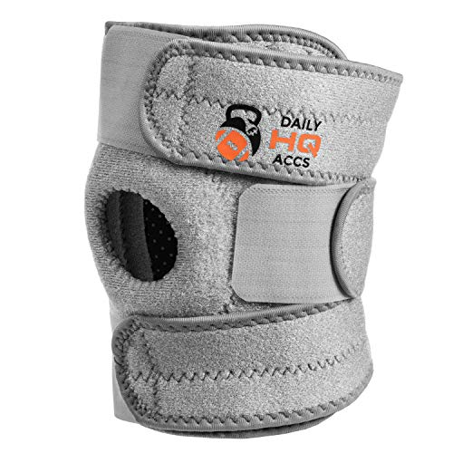Daily HQ Accs Patella Stabilizing Hinged Knee Brace Compatible with Women & Men - Adjustable & Elastic Plus Patella Support - Both Sides Compatible - Relief from Pain During Running & Other Sports (Support Elastic Hinged Knee)