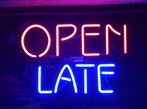 Desung Brand New 20″x16″ OPEN LATE Neon Sign (Various sizes) Beer Bar Pub Man Cave Business Glass Neon Lamp Light DB264