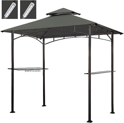 Sundale Outdoor 10ft Offset Hanging Umbrella Market Patio Umbrella Aluminum Cantilever Pole with Crank Lift, Corss Frame, Polyester Canopy, 360 Rotation, for Garden, Deck, Backyard Brick Red