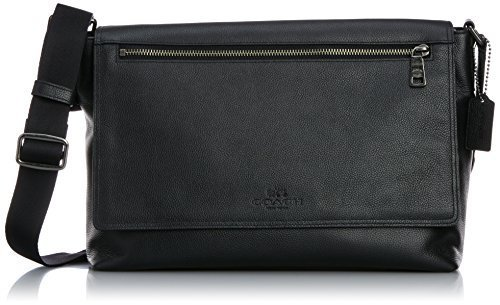コーチ Men's Refined Pebbled Sullivan Messenger QB/ブラック Messenger Bag [並行輸入品] B01FQQZ6WY