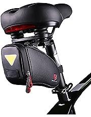 ROTTO Satteltasche Fahrrad Sattel Tasche für Mountainbike Rennrad Wasserdichter Reißverschluss (Schwar)