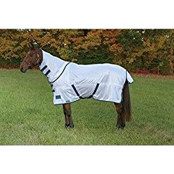 Shires Tempest Fly Sheet w/ Detachable Neck - White - 84