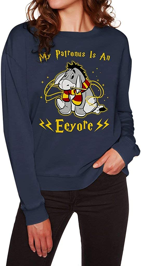 My Patronus is an Eeyore Funny Vintage Trending Awesome Shirt for Winnie The Pooh Movie Lovers Unisex Style Sweatshirt