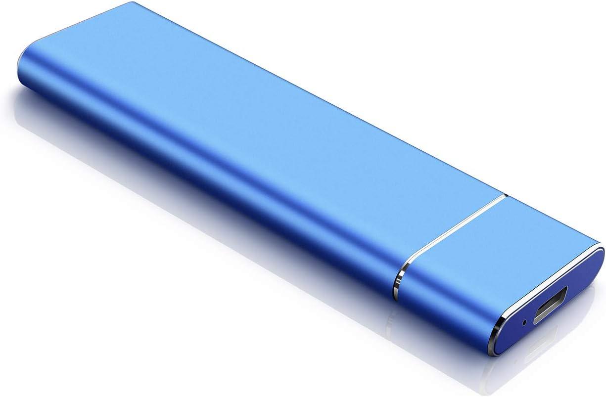 2TB External Hard Drive Portable Hard Drive External HDD Slim USB 3.1 Hard Drive Compatible for Mac Laptop and PC (2TB, Blue)