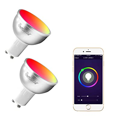 Avatar Controls Smart Lampe, LED GU10 Dimmable Intelligente Home lampen mit APP Fernbedienung ON/OFF/Birne, Arbeite mit Amazo