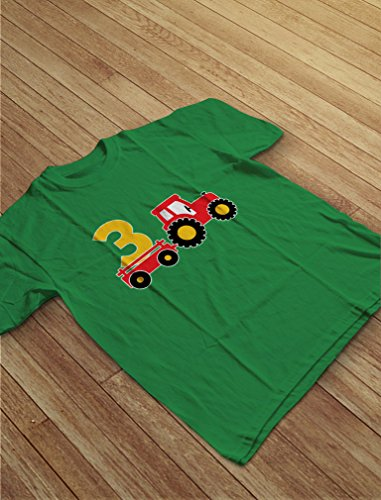 Home Party Apparel Birthday T Shirts Boys 3rd Gift Construction 3 Year Old