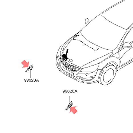 Automotiveapple OEM 986302l100 parabrisas arandela boquilla para 2010 – 2016 Kia Cadenza K7
