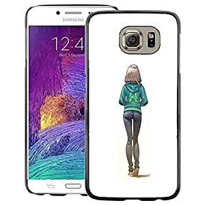 Red-Dwarf Colour Printing Sexy Butt Girl White College Woman - cáscara Funda Case Caso de plástico para Samsung Galaxy S6 SM-G920