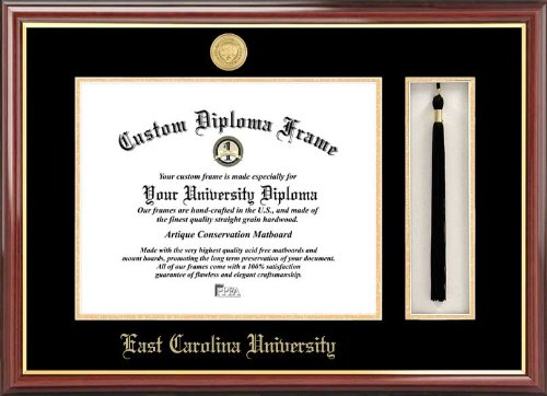 NCAA East Carolina Pirates Tassel Box and Diploma Frame by Campus Images
