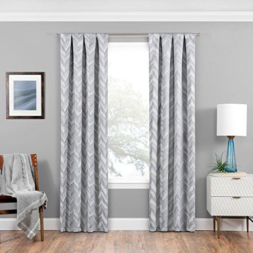 Eclipse 16429037084SLV Haley 37-Inch by 84-Inch Single Room Darkening Window Curtain Panel, ()