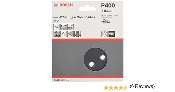 Bosch 2607019491 Paquete de 25 lijas para lijadoras exc/éntricas di/ámetro de 125 mm, grano 40