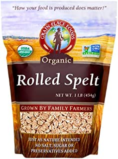 product image for Grain Place Foods Non-GMO Organic Rolled Spelt 1lb Bag